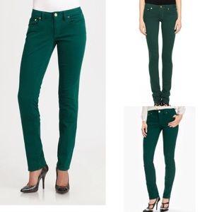 Euc Tory Burch green ivy skinny jeans 30
